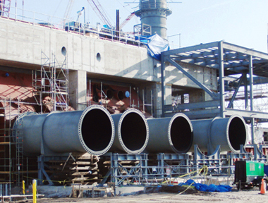 Circulating Water Pipe for Power Plant from Dixie Southern, Steel Fabricator in Florida