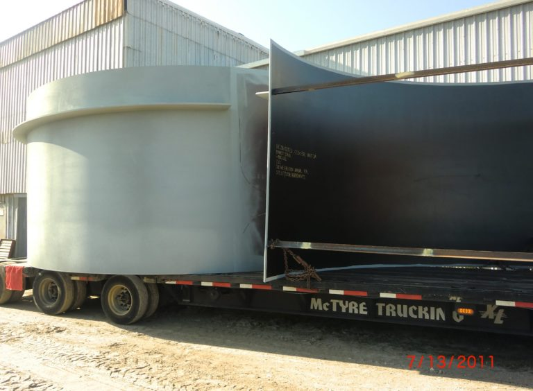 Steel Exhaust Stacks on Truck, Recent Work by Dixie Southern