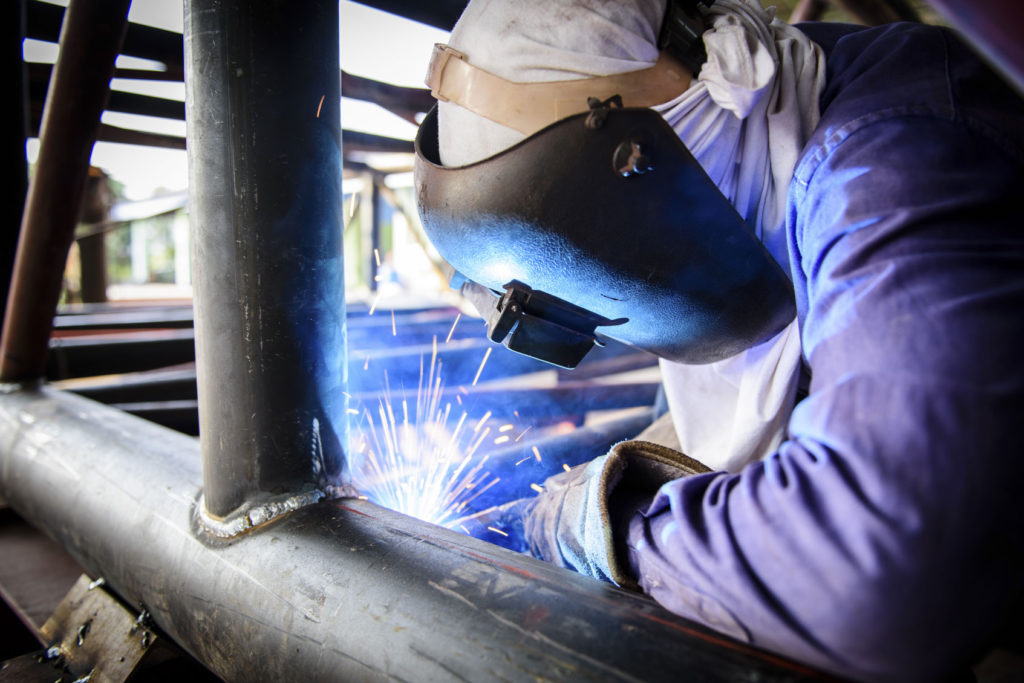 Welder with Structural Steel Fabrication