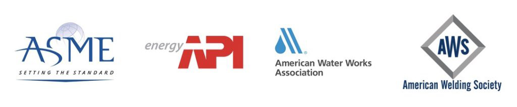 Qualifications Include ASME, API Energy, American Water Works Association, and American Welding Society